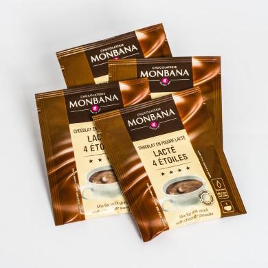 Chocolat lacté Monbana 32 % cacao doses de 30gr