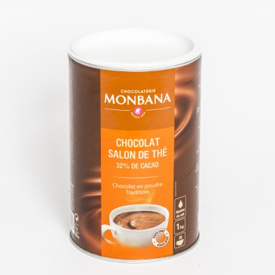 Chocolat non lacté Monbana SALON DE THE 32 % cacao
