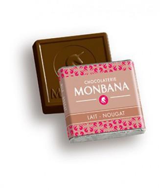 Mignonettes Monbana au lait avec éclats de nougat x200