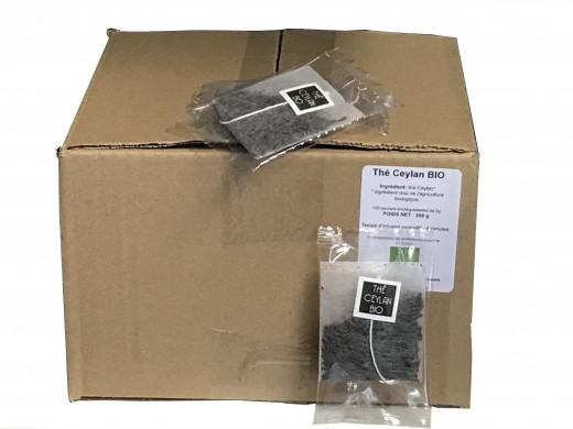Thé noir Jardin d'Asie Ceylan Bio x100