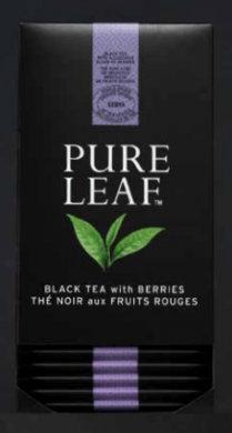 Thé Pure Leaf Noir Fruits Rouges x25